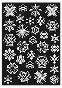 120 Snowflake Window Clings Christmas Snowflake Window Statiuc Cling Stickers