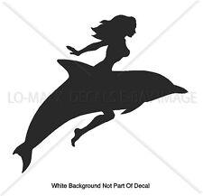 Mudflap Girl Riding Dolphin Car Truck Sea Life Ocean Surf Die Cut Vinyl Decal