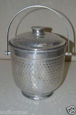 Vintage 1960s Aluminum Cocktail Hand Hammered Bar Ice Bucket Rare NASCO ITALY