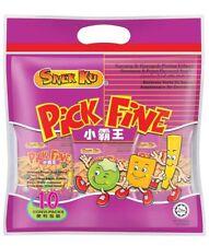 Snek Ku Pick Fine Mix Greenpeas and Prawn Flavoured Snack  (10 pct X 20g)