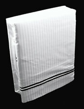 "100% Cotton Superking Stripe Duvet Cover with 36"" Long Pillowcases Black & White"