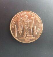 1907 A PARIS MINT FRANCE  .900  GOLD  Francs RÉPUBLIQUE FRANÇAISE