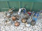 14 pcs Vintage Used Assorted Pump Oiler Pump Oil Cans Empty Cans
