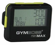 Gymboss Interval Timer & Stopwatch - Black/Yellow Soft Coat Removable Belt Clip