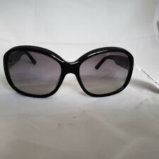 PRADA WOMEN'S PR201891 BLACK PLASTIC GRAY LENS SUNGLASSES 60-18-130  M01-23