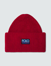 POLO Ralph Lauren Ribbed HI TECH Winter BEANIE Red Hat O/S FREE SHIPPING