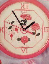 2 x orologi Floreale Cross Stitch grafici