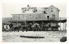 RPPC HOTEL SHANIKO Central Oregon Stagecoaches Vintage Photo Postcard
