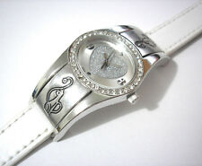 Iced Out Bling Bling Hip Hop Baby Phat Ladies Watch White Item 2319