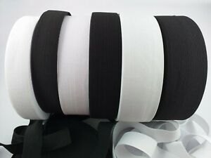 Flat Knitted Elastic Cord Tape 20 25 30 40 50 mm Tailoring Sewing Waistband
