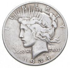 Better - 1934-S - Peace Silver Dollar - 90% US Coin *922
