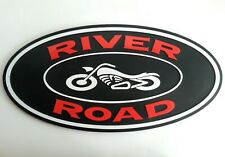 "River Road Motorcycle Sign Original Clothing Store Sign 18"" Long Chopper Bike"