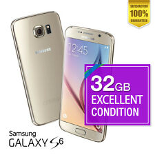 Samsung Galaxy S6 32GB Gold Excellent condition Unlocked Smartphone