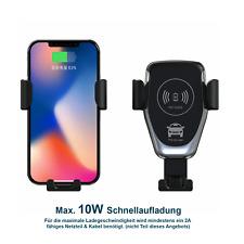 Qi Wireless Ladestation Kabellos Ladegerät und Halterung Handy Auto KFZ iPhone