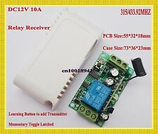RF Relay Receiver 315/433mhz RC Radio RX Module Learning Code ASK Remote Switch