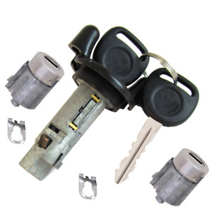 GM OEM Ignition Key Switch Lock Cylinder & Door Lock Tumbler Set 2 Chevy Keys