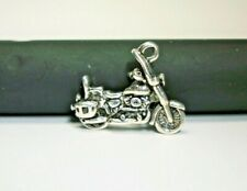 silver charm Twin Cam Engine L@K Motorcycle charm 3-D detailed Harley Davidson