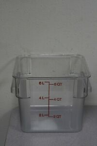 (5) CAMBRO 6 Quart Clear Food Containers P/N:7432180