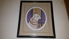 P.Buckley Stitching Nurse  Rare Signed Print  658/1000