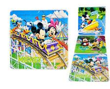 Cute Mickey Minnie Kids Baby Boys Girls Jigsaw Puzzle Toy 3PCS/Pack NEW