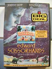 """DVD """"Edward aux mains d'argent"""" - de Tim Burton, avec Johnny Deep, Winona Ryder"""