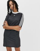 FREE SHIPPING NWT ADIDAS ORIGINALS Polka Dot Dress In Black White Size XXS