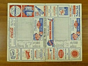 1950's Senators vs Red Sox Scorecard Signed by Ed Yost Ed Fitzgerald Frank Sacka