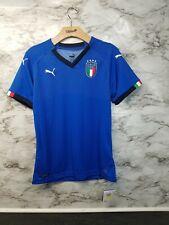 $75 Puma Italy Jersey 2018 FIGC Women's Italia Maglia Soccer Jersey Shirt Blue M