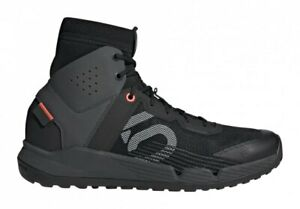 Five Ten Trailcross Mid Shoes Core Black / Grey Two / Solar Red - Flat Pedal MTB