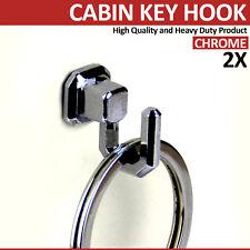 2 MINI Unico finitura cromata chiave Hook Hanger Rack TI HO doccia di alta qualità