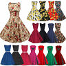 Womens Vintage Rockabilly Swing Dress 50s Retro Floral Evening Cocktail Party