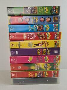 The Wiggles BULK LOT X10 VHS ORIGINAL CAST ABC Children's Learn Dance Sing Music