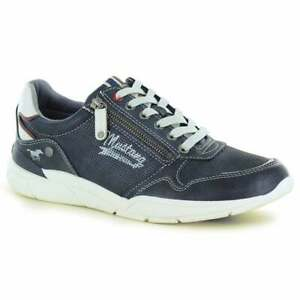 Mustang 4138-306-820 Mens 6-Eyelet Fashion Trainers Navy
