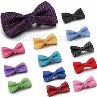 Kid Boy Polka Dots Bow Tie Bowknot Dress Neckwear Pre-tied Tuxedo Baby Bowties