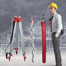 1,63 trépied en aluminium et 5M bâton de mesure pour niveau laser rotatif