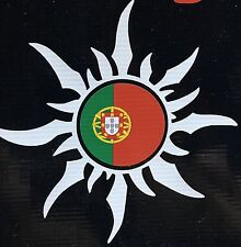 Portugese Sun with Portugal National Flag Car Decal Sticker