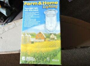 American Fluorescent VP141-6 Vaportight Light Wire Guard Farm Home Lighting