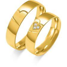 Sonderangebot Eheringe Trauringe 585 er Massiv Gelbgold mit Brillanten 0,045 Ct