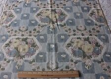 Rare Antique French c1922-1926 Art Deco Roses Linen Printed Fabric Textile