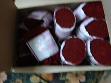 Vintage Dark Red Vintage New Pre Cut Acrylic Rug Yarn antique Lot Of 18