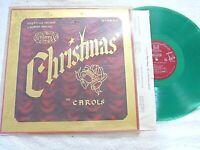 Robert Rheims Organ and Chimes LP Rheims  Merry Christmas In Carols Green Vinyl