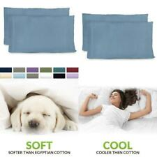 Premium Bamboo Pillowcases Standard Baby Blue Pillow Case Set Of 2 Ultra Soft