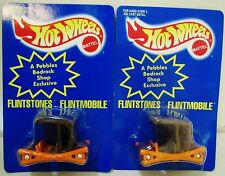 New Hot Wheels Flintstones Flintmobile TV Movie Cartoon Car Vehicle Lot 1995