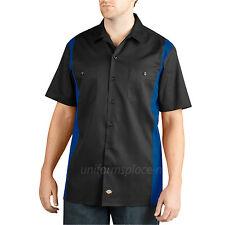 Dickies Work Shirts Men Short Sleeve Two Tone Color Button Front Shirt WS508 Top