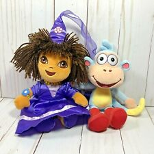 """TY Beanie Babies 9"""" Fairytale Dora The Explorer And 7"""" Boots The Monkey Plush"""