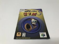 Earthworm Jim 3D - Nintendo 64 N64 - Instruction Manual Only booklet