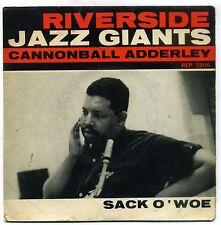 CANNONBALL ADDERLEY : SACK O'WOE- EP RIVERSIDE 3205