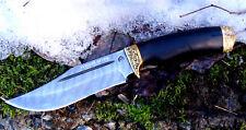 "Russian Handmade Damascus Steel 400 Layers Knife ""Predator"" + Scabbard  #n2"