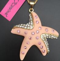 Betsey Johnson Crystal Rhinestone Starfish Pendant Necklace