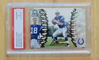 1998 PEYTON MANNING OMEGA FOOTBALL ROOKIE CARD  #101 GRADED 10 GEM MINT